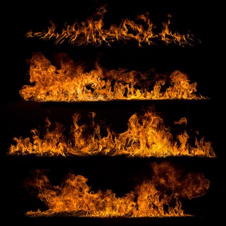 Vuur vlammen collectie Stockfoto