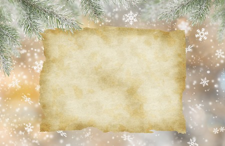 snow flakes: Abstract Christmas background with falling snow flakes Stock Photo
