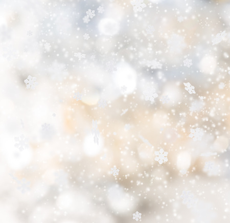 stars sky: Christmas abstract background with falling snow.