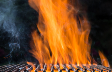 sizzling: Hot empty clean charcoal. Barbeque concept.