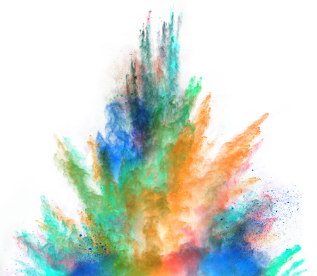 Colored powder isolated on white background 版權商用圖片