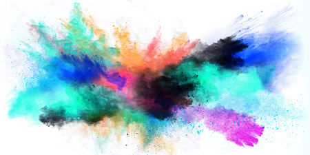 colored powder: Colored powder isolated on white background Stock Photo