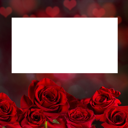 red rose bokeh: Valentine red rose abstract background wallpaper. Stock Photo