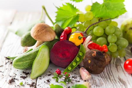 Healthy Organic Vegetables, still life. Stock Photo
