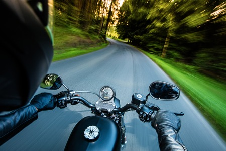 Close up of a high power motorcycle, chopper. Stock Photo