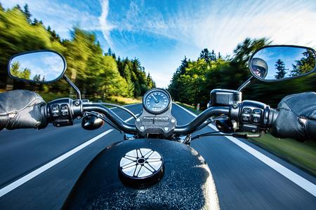 Close up von einem hohen Leistungs Motorrad, Chopper. Standard-Bild