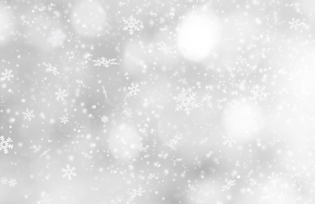 snowfalls: Christmas decoration on abstract background, close-up.
