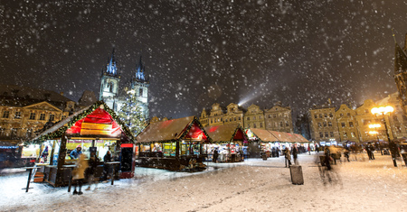 Old town square in Prague at Christmass time. Night. Stock Photo - 68075851