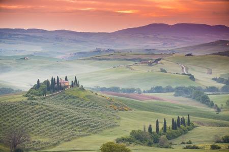Tuscany, panoramic landscape - Italy, Europe.