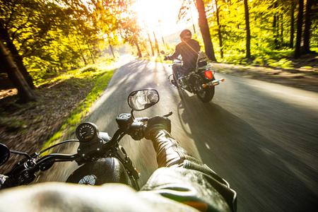 Close-up van een hoog vermogen motorfiets, bijl.