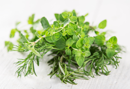 Various kind of fresh herbs