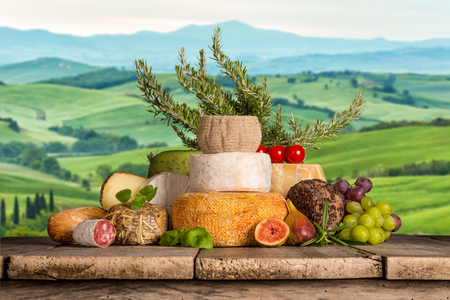 Various types of italian cheese