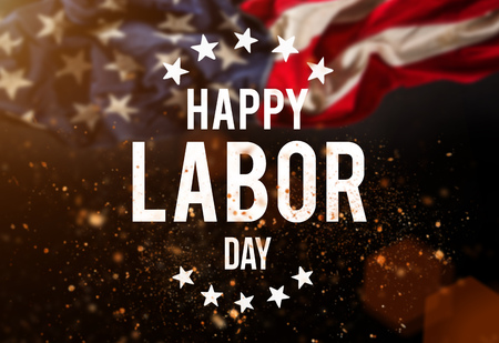 Labor day banner, patriotic background 写真素材