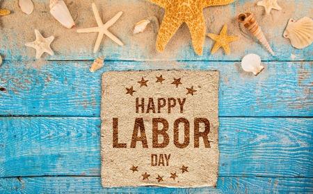 Labor day banner, patriotic background Фото со стока
