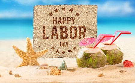 Banner di lavoro felice giorno, sfondo patriottico americano