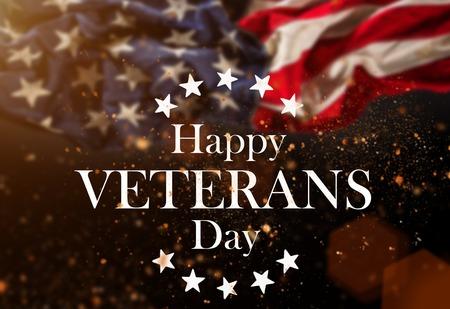 United States Flag. Veterans Day Concept Standard-Bild