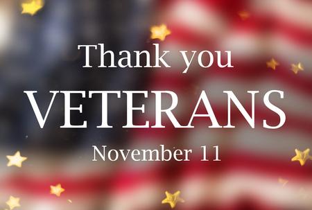 United States Flag. Veterans Day Concept Stock Photo