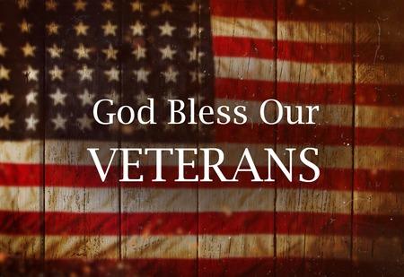미국 국기와 배경입니다. 재향 군인의 날 개념입니다.