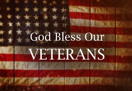 Background with united States Flag. Veterans Day Concept. Stock Photo