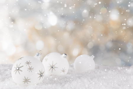 Christmas decoration with blurred background, lots of copy space for your product or text.