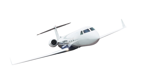 Commercial airplane isolated on white background. Stockfoto