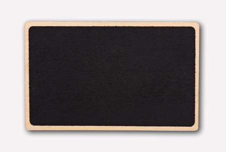 Small blackboard isolate on white background.