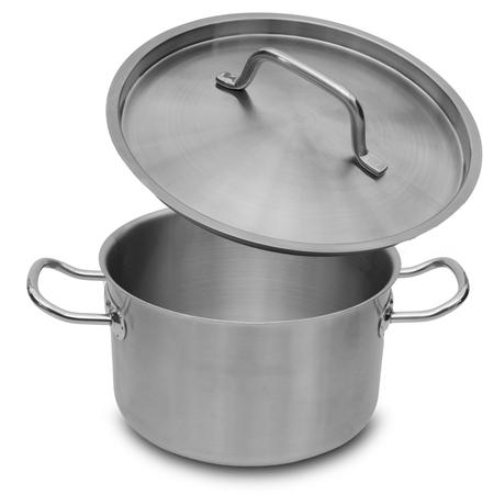 Stainless steel pot isolated on white background Zdjęcie Seryjne - 95857332