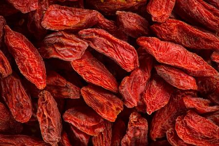 Background of dried goji berries, close-up.
