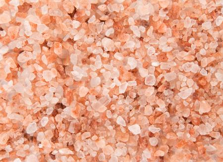 Pink Himalayan coarse grain salt texture.