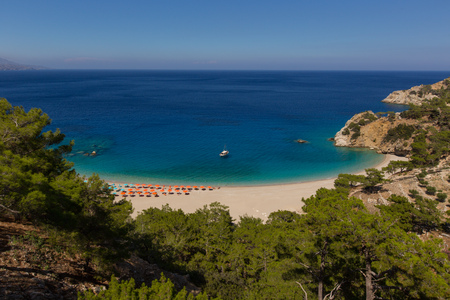 Apella - one of the most beautiful beach of Greece, Karpathos island. Stock Photo - 103875249
