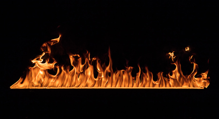 Texture of fire on a black background. Stok Fotoğraf - 109550468