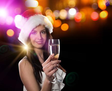 New year, celebration, friends, birthday concept. 스톡 콘텐츠