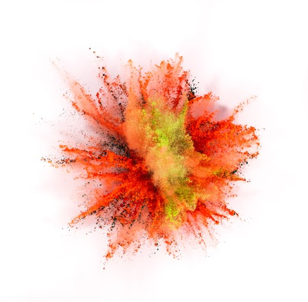 Colored powder explosion isolated