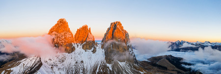 Beautiful autumn landscape in the Dolomites mountains. Фото со стока