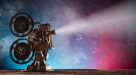 Old style movie projector, close-up. Reklamní fotografie