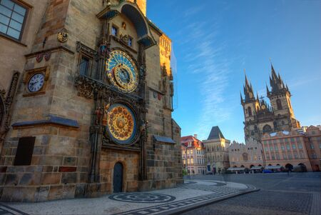 Prague Old Town Square with Astronomical Clock, Czech Republic.