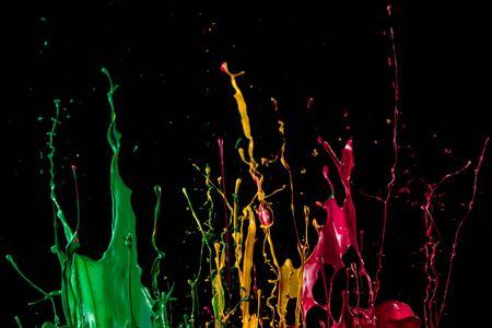 abstract color splash isolated on black background Zdjęcie Seryjne