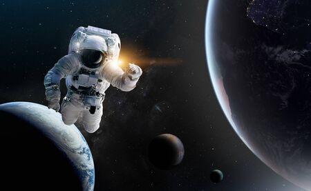 Concept de conquête de l'univers par la race humaine.
