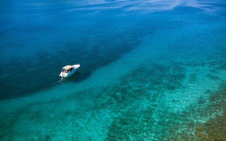 Speed boat in mediterranean sea