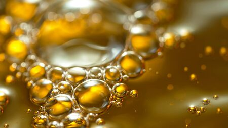 Super Slow Motion Shot of Splashing Oil