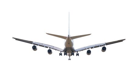 Huge two-storey passengers commercial airplane isolated