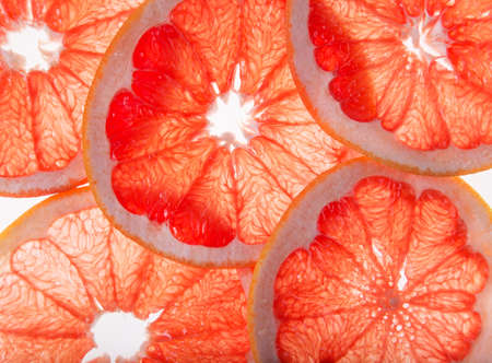 Abstract photo of grapefruit slices