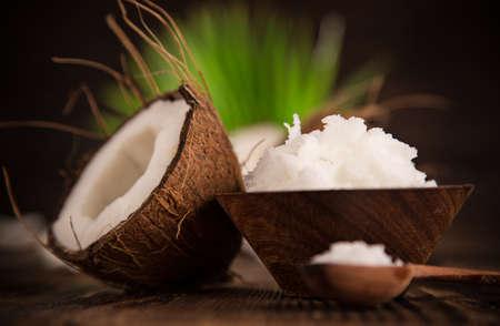 close-up of a coconut oil Stok Fotoğraf