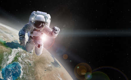 Astronaut spaceman outer space.