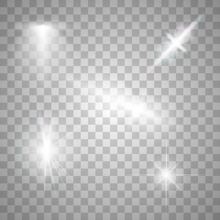 the light rays: Abstract image of lighting flare. Set