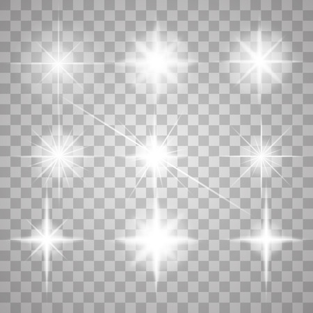 vector: Abstract image of lighting flare. Set