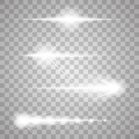 lightings: Abstract image of lighting flare. Set