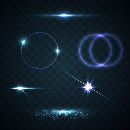照明フレアの抽象的なイメージ。セット  イラスト・ベクター素材