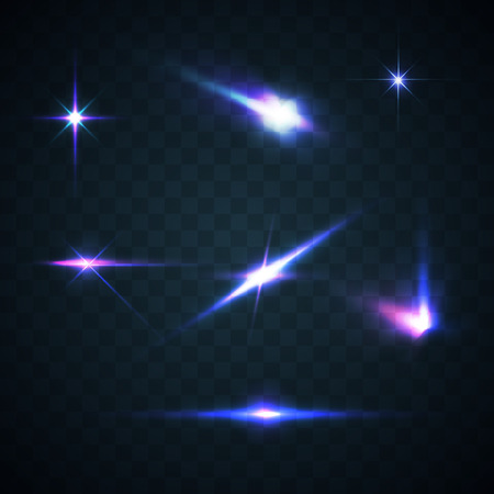 Abstract beeld van de verlichting flare. Set