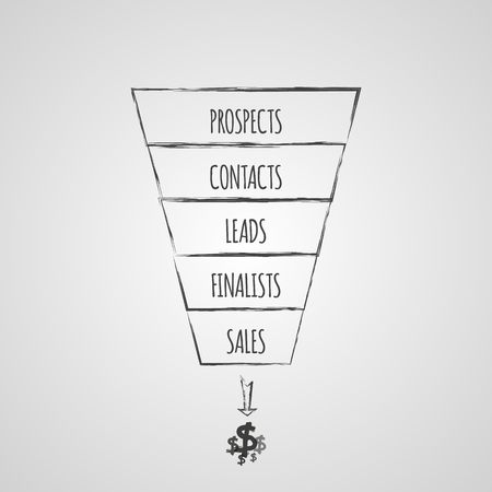 Sales Funnel infographic. Vector illustration.